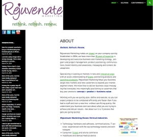 Rejuvenate Marketing -  Consulting business, marketing, strategy and execution