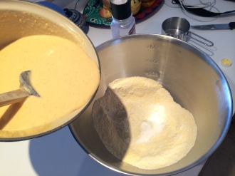 corn mixture to dry ingrediants