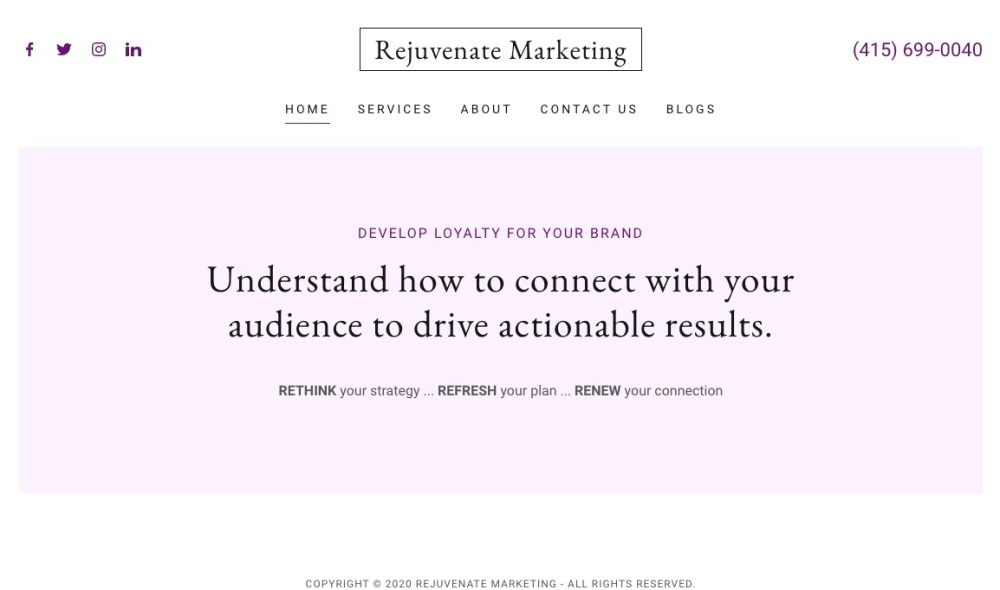 rejuvenatemarketing page 2020
